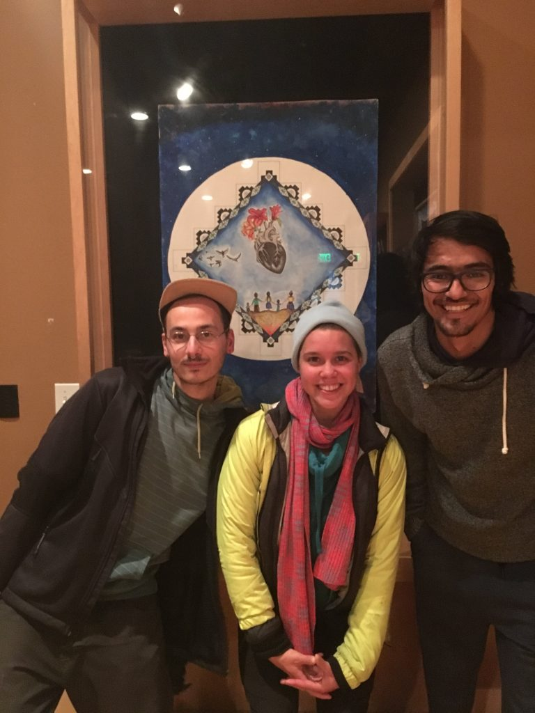 """The participants took a community field trip to the East Side Arts Alliance for a film screening of """"Know Your Rights."""""""