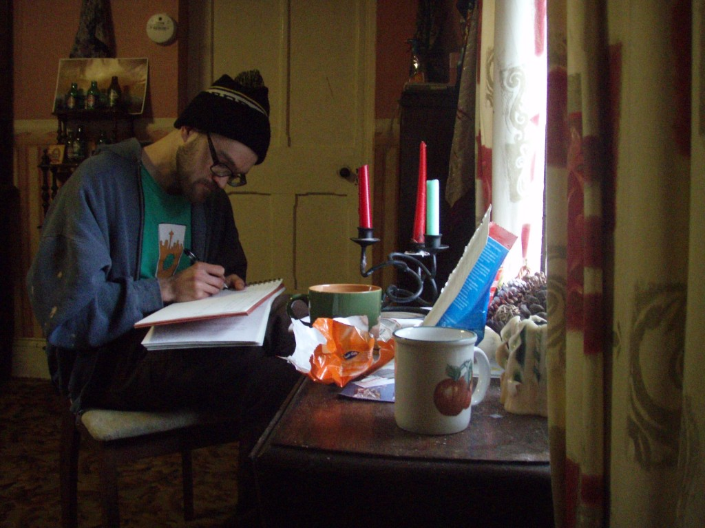 Chris Bell working in Cloneen, Ireland