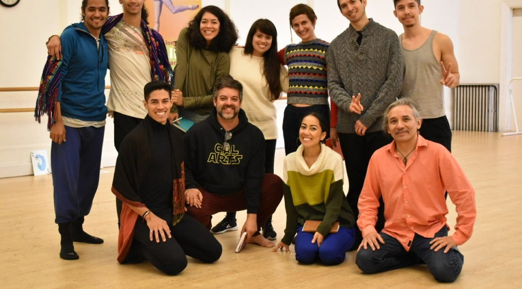 Image of choreographers at the inaugural session of Juntos, part of the Festival of Latin American Contemporary Choreographers.